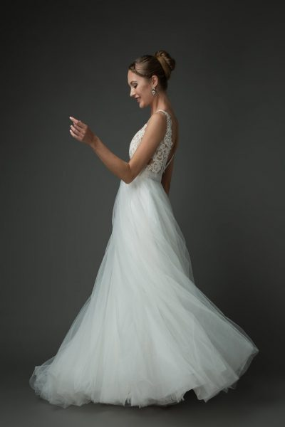 romantic sweet tulle ballgown wedding dress styles, ivory lace wedding gown