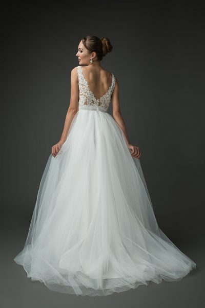 sweet tulle ballgown, Grace + Ivory wedding gowns with lace