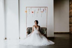 Grace + Ivory Gemma Dress. Soft Tulle ballgown wedding dress.