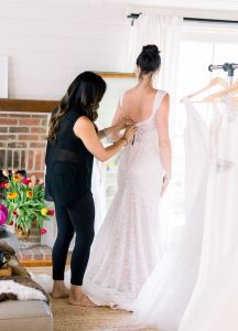 Try-at-home wedding dress depiction