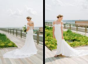 crepe wedding dress simple lace