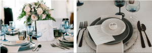 Black and Blue wedding color inspiration