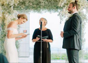 classic wedding inspiration white arches