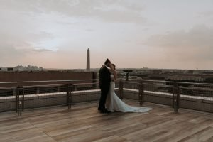 DC skyline rooftop wedding