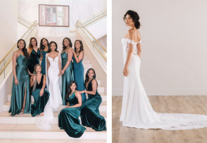emerald wedding color bridesmaid dresses