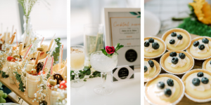 classic wedding cocktail hour inspiration